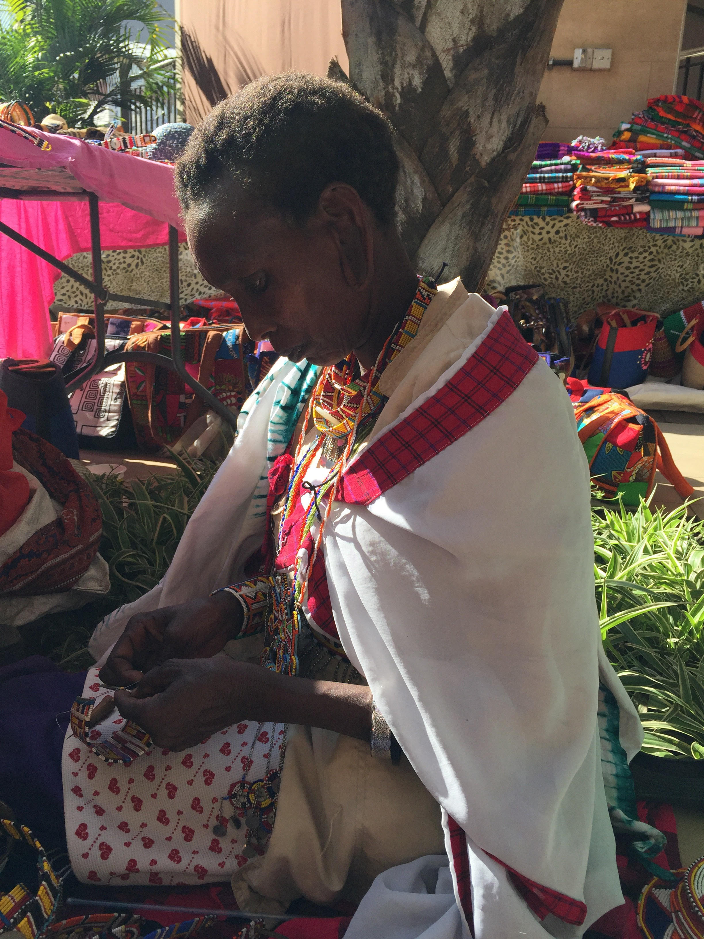 Nice woman at maasai market.