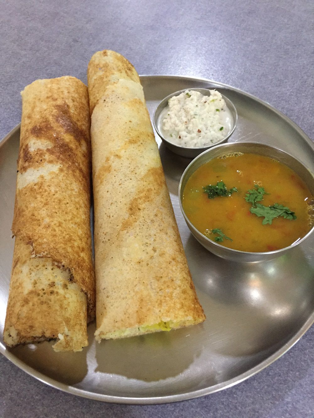 Masala dosa at Sarit Centre.
