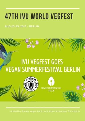 IVU Vegfest Berlin Report Sep 2019