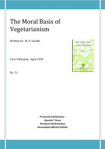The moral basis of vegetarianism